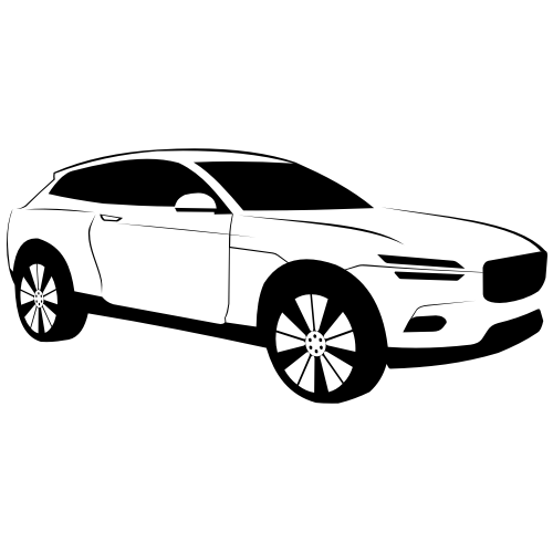 Free Luxury Black & White Volvo XC Coupe Car