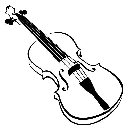 Free Line Art Blak and White Violin