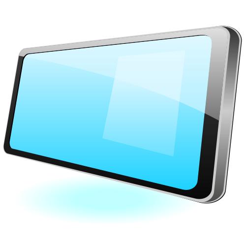 Free Flat Glossy Tablet PC Mockup