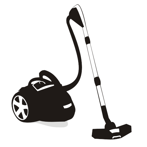 Free Silhouette Black & White Vacuum Cleaner