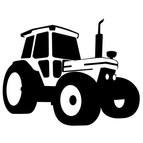 Free Silhouette Traced Tractor Vehicle