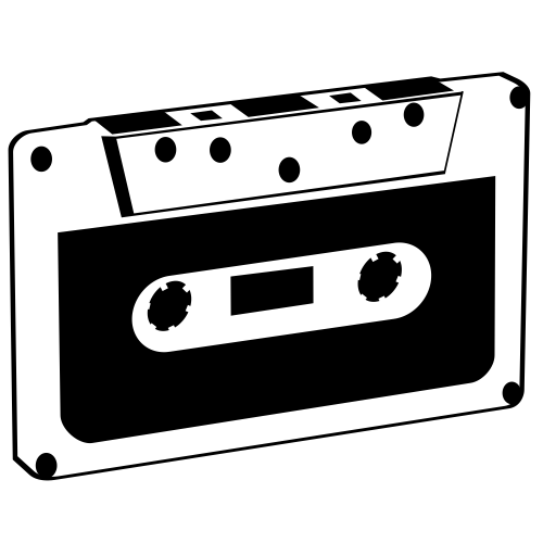 Free Vintage Black & White Tape Cassette