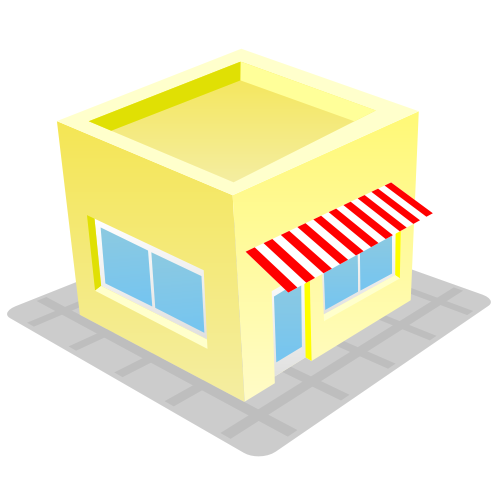 Free Cute & Funky Store House Building