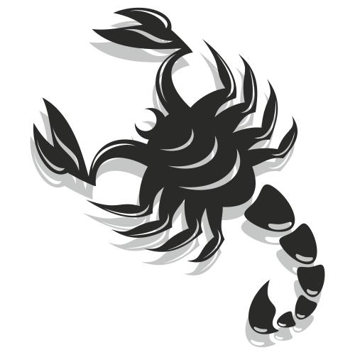Free Black & White Flat Scorpion