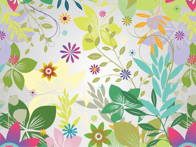 Free Funky Flower Garden Colorful Background