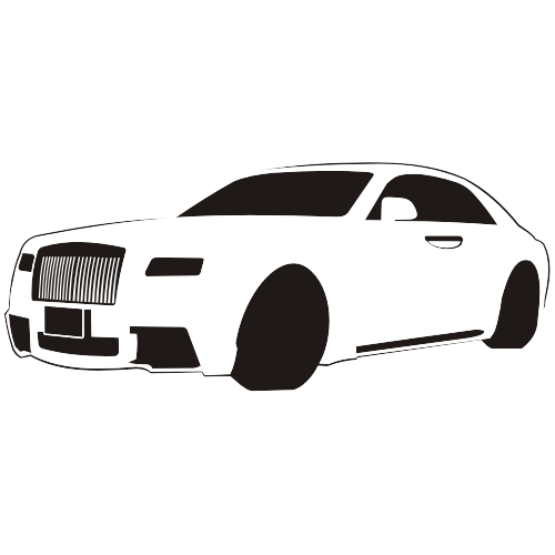 Free Black & White Traced Rolls-Royce