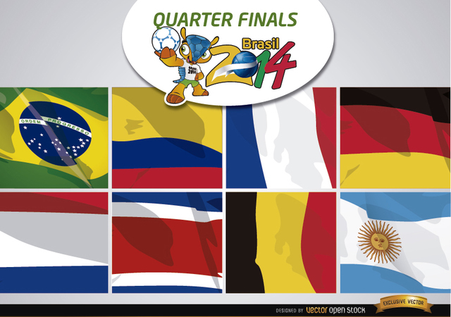 Free Brasil 2014 Teams for quarter finals