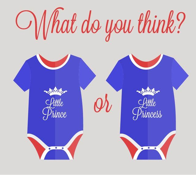 Free Blue Red Simplistic Royal Baby Wear