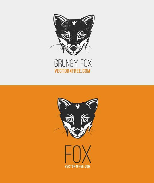 Free Black and White Fox Head