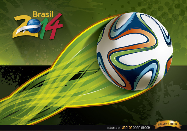 Free Brasil 2014 football energy trail wallpaper
