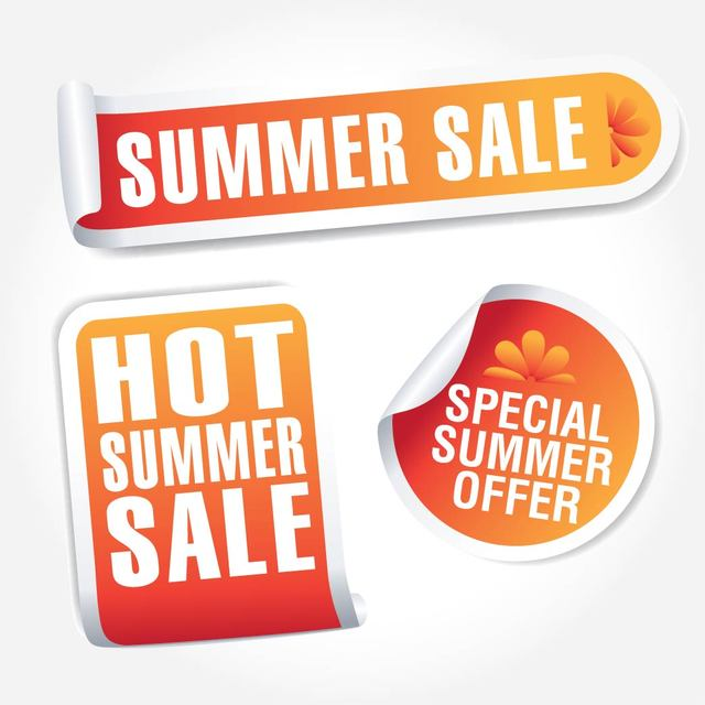 Free Hot Summer Sales Tag Set
