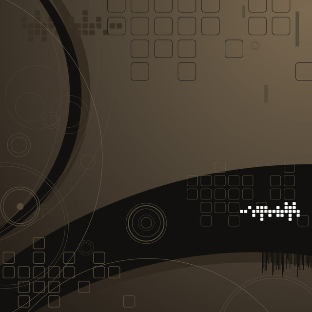 Free Abstract Dark Tech Background with Squares