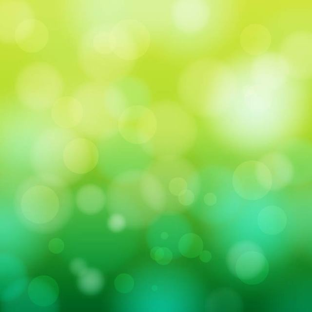 Free Abstract Bokeh Circles on Green Background