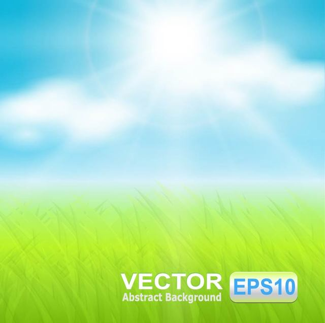 Free Realistic Sunny Sky with Grassy Ground