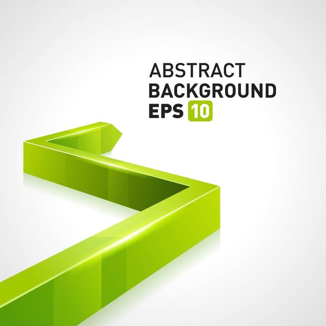 Free Green 3D Arrow Business Background