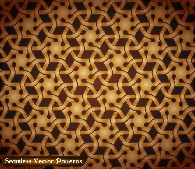 Free Seamless Golden Vintage Damask Pattern