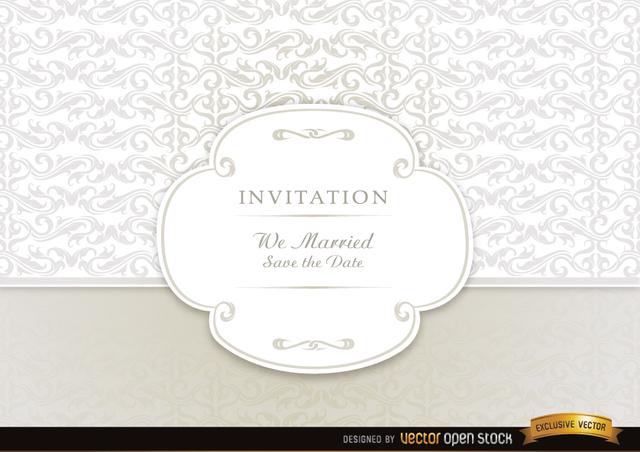 Free Vectors: Wedding invitation card  | Vector Open Stock