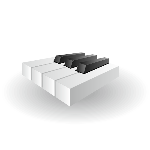 Free Glossy Piano Keys Icon in 3D