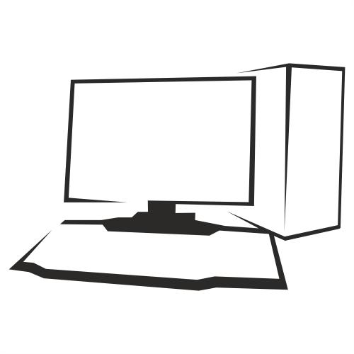 Free Outlined Black & White Desktop PC