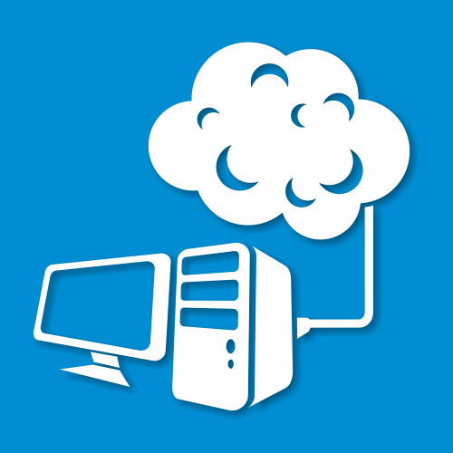 Free Abstract Desktop PC Connected to the Cloud