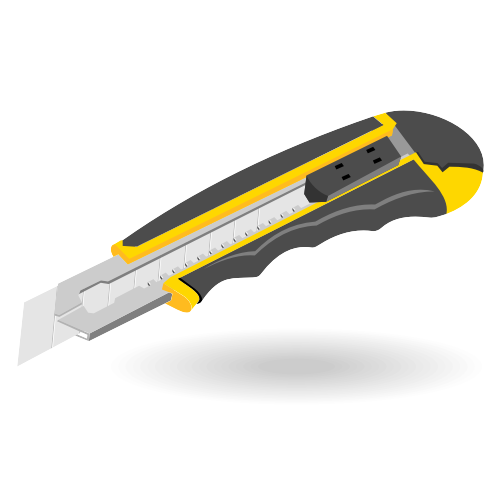 Free Office knife vector