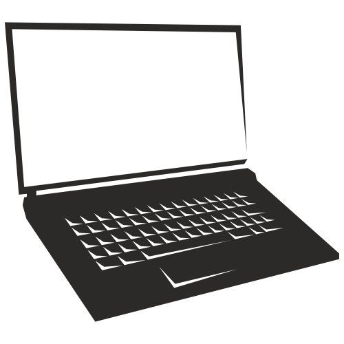 Free Vectors: Blank Screen Notebook Laptop Silhouette | Free Vector