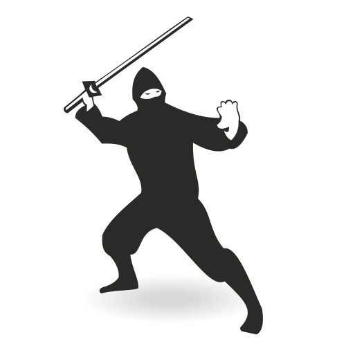 Free Silhouette Ninja Character with Sword