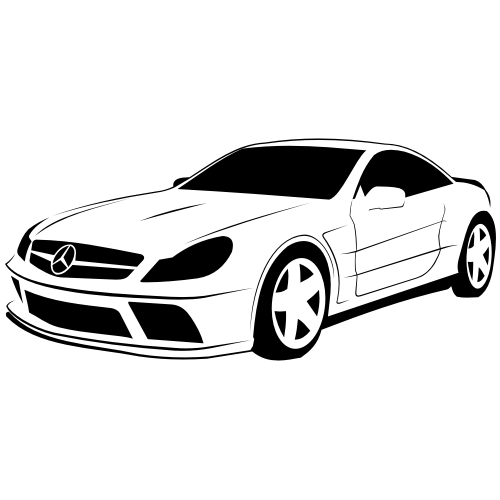 Free Sketchy Traced Mercedes-Benz SL