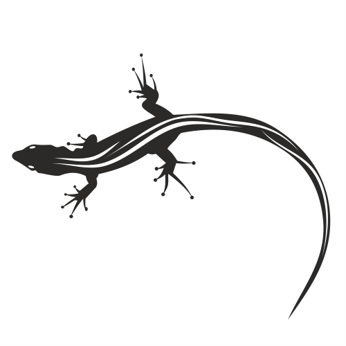 Free Silhouette Animal Black & White Lizard