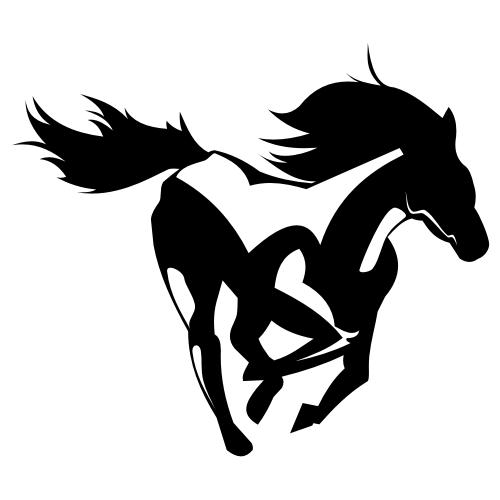 Free Creative Prancing Horse Artwork