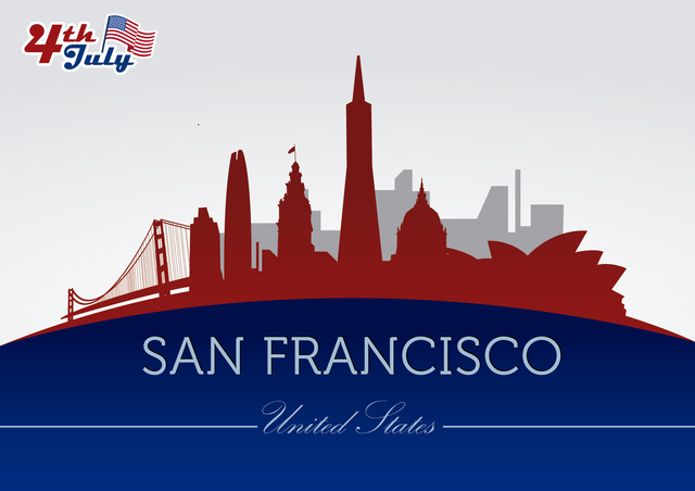 Free San Francisco city silhouettes on July 4th