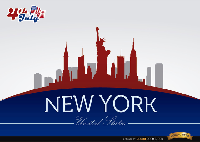 Free New York skyline on July 4th commemoration