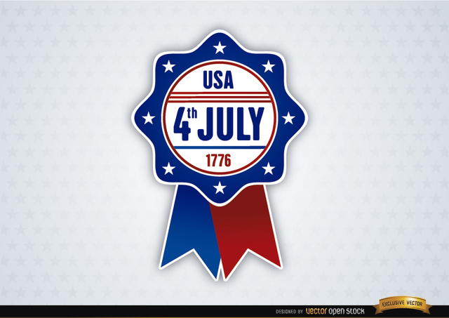Free USA July 4th Ribbon