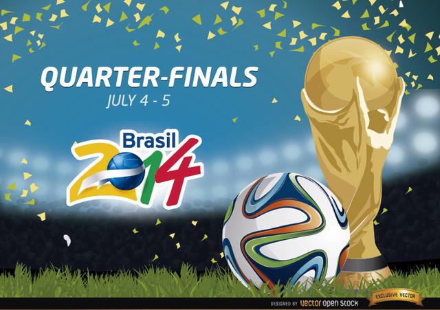 Free Quarter Finals Brazil 2014 Promo