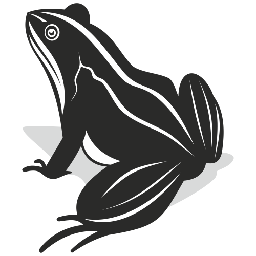 Free Black & White Comic Style Frog