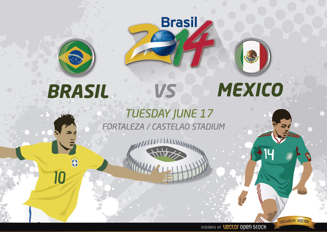Free Brasil Vs. Mexico match for Brazil 2014