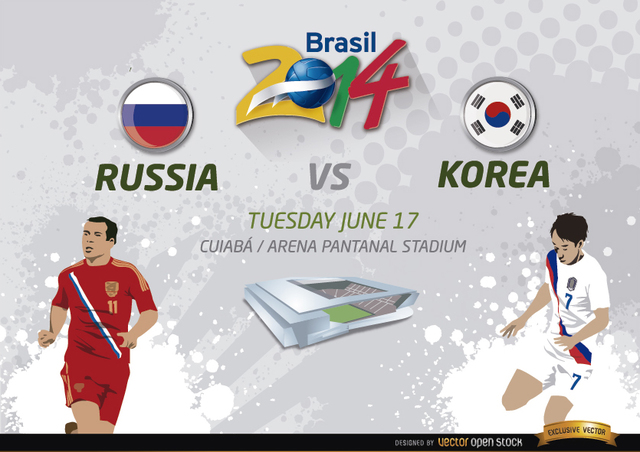 Free Vectors: Russia Vs. Korea match for Brazil 2014 | Vector Open Stock