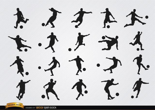 Free Football players silhouettes