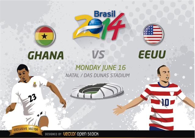 Free Ghana Vs. EE.UU. Brasil 2014