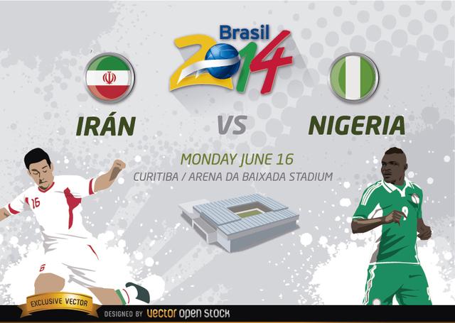Free Irán Vs. Nigeria Brasil 2014