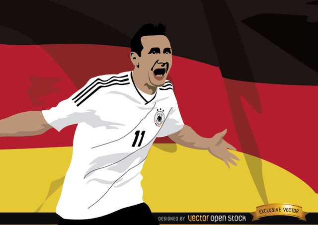 Free Miroslav Klose with Germany flag