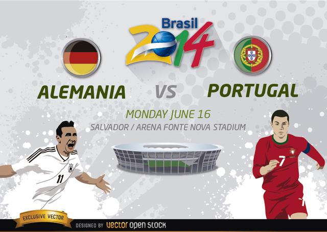 Free Alemania Vs. Portugal Brasil 2014