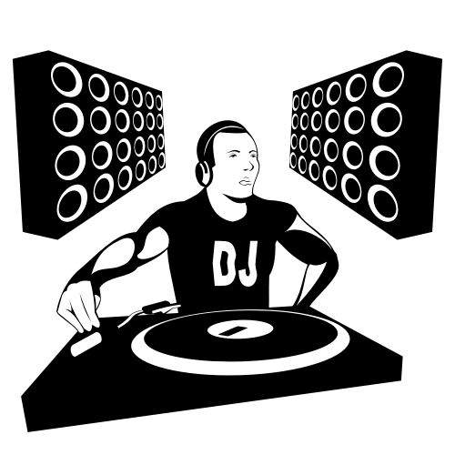 Free Silhouette DJ Boy with Speakers