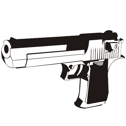 Free Black & White Desert Eagle Handgun
