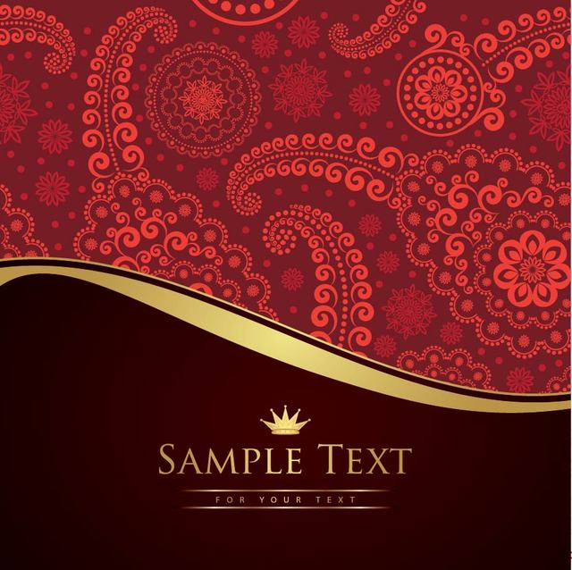 Free Vintage Paisley Pattern Cutting Edge Background