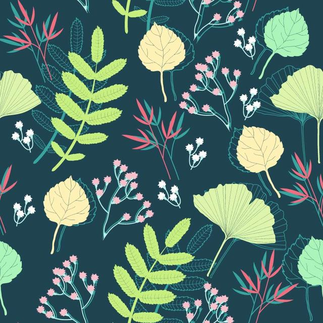 Free Funky Style Spring Plants Background