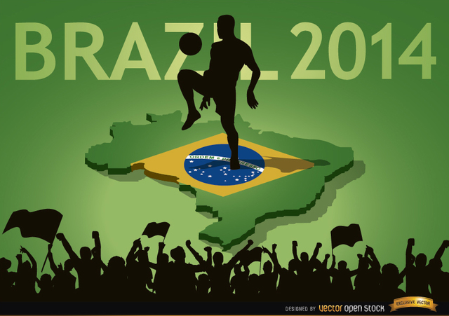 Free Brazil 2014 country fan crowds