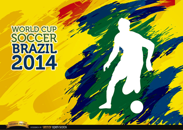 Free Brushstrokes World Cup Soccer Brazil player