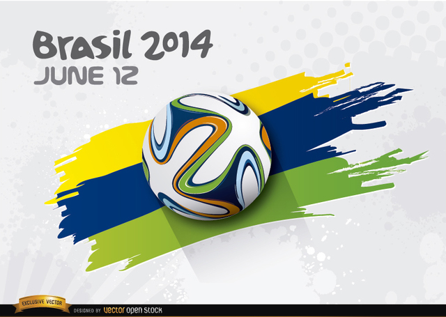Free Football rolling over Brasil 2014 colors