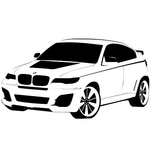Free Vectors: BMW X6 | Free Vector